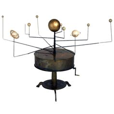 19th Century Astronomical Brass Orrery | From a unique collection of antique and modern scientific instruments at http://www.1stdibs.com/furniture/more-furniture-collectibles/scientific-instruments/