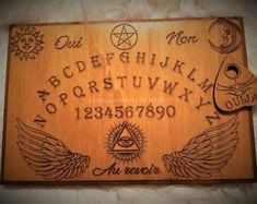 Ouija, Spirit, Boards, Handmade, Etsy, Planks, Hand Made, Handarbeit