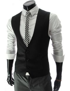 Amazon.com: TheLees (SHV) Mens Business Casual Slim fit Vest Waistcoat: Clothing