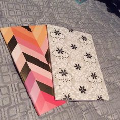 NEW! Erin Condren metallic collection journals. One, pink/orange/gold tone graph paper journal. One, white/grey/silver tone lined paper journal. Erin Condren Other