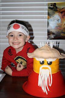 Sensei Wu cake for his Ninjago party