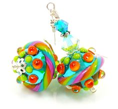Love these bright lampwork beauties!