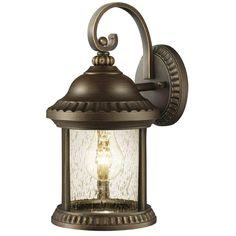 Home Decorators Collection Cambridge Outdoor Essex Bronze Small Wall Lantern