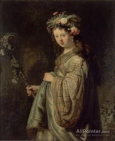 Rembrandt Van Rijn Saskia Dressed As Flora oil painting reproductions for sale