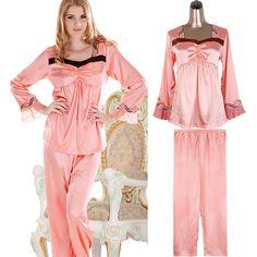 ... Princess Nightgown Pyjamas Womens Lace Ruffles Sleepwear. huge discount  2f820 f72eb Women-s-silk-font-b-satin- ... a6623f091