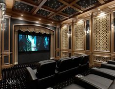 Elegant Classic Home Theater Decor Ideas Home Theatre Design Ideas - Todosobre - Travel And Enjoy Living Movie Theater Rooms, Home Cinema Room, Home Theater Decor, Home Theater Design, Home Theatre, Theatre Rooms, Dream Theater, Theatre Style Seating, Graphisches Design