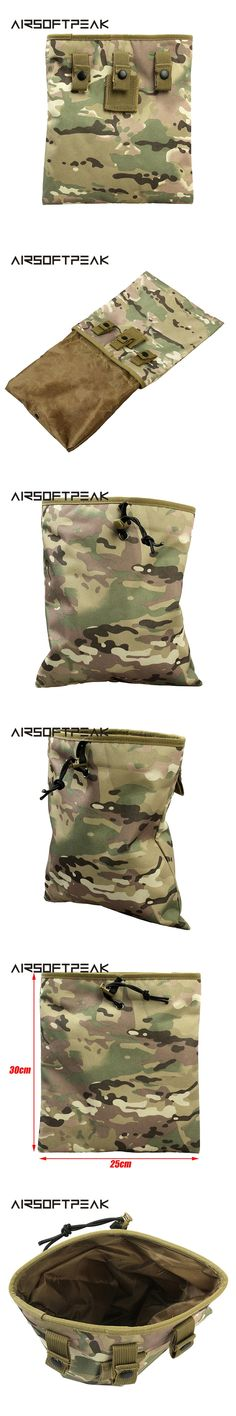 AIRSOFTPEAK Tactical Mag Dump Pouch Airsoft Paintball Military Recovery Molle Magazine Pouch Hunting Slingshot Ammo Bags