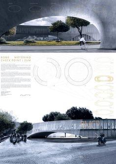 Propuestas presentadas al Concurso de Arquitectura para Estudiantes y Jóvenes Arquitectos Rome Motorino Check Point Organizado por ARCHmedium
