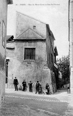 Le Paris d'antan. Rue du Mont-Cenis et rue Saint-Vincent, dans le 18ème arrondissement