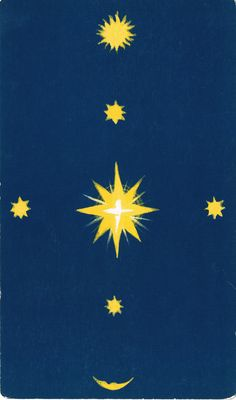 Wisdom of the Australian Animals Book & Card Set -  back of deck. Midnight blue sky with stars, moon and sun.