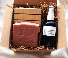 I Heart Mom Gift Set  Lavender Rose Bath and Body by AquarianBath