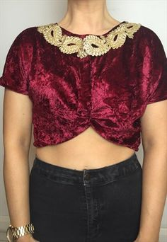 JEWEL NECK CROP TOP