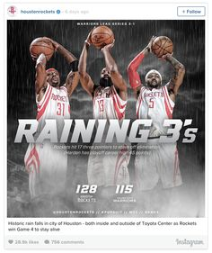 Houston Rockets social media graphic