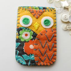 Felt and fabric owl