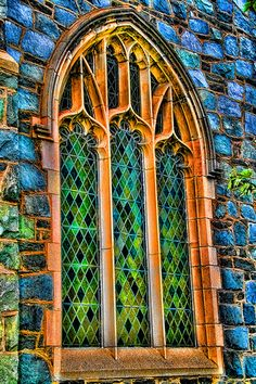 Stained Glass Church Window by D L Ennis