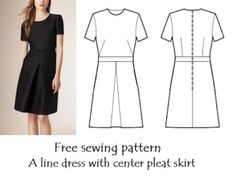 EVERYDAY SEW, JEWELRY AND CRAFTS: ΤΟ ΜΙΚΡΟ ΜΑΥΡΟ BURBERRY Nice Dresses, Short Dresses, Dresses For Work, Sewing Patterns Free, Dress Patterns, Diy Dress, Knit Fashion, Plus Size Blouses, Print And Cut