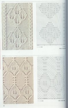 Beautiful knitting patterns #3 & 4 -- the link for the actual site has been blocked April 2014