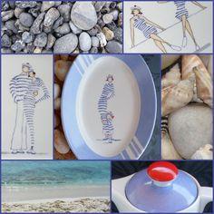 peinture sur porcelaine: les dames de la Côte - Made in Méluse