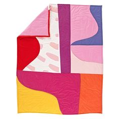 Shop Tropical Punch Baby Quilt.  This colorful, abstract baby quilt makes it easier than ever to add a splash of color to your nursery.