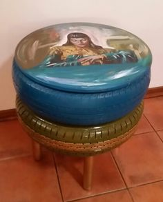 """mandela"""" inspired double tyre coffee table made from old used"""