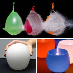 Crafting decor objects is a holiday tradition that some might find a bit dull for more adventurous designs lovers - unless it  involves hot wax, a water balloon & the slight risk of having it all blow up in your face.