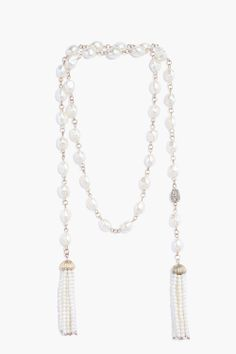 Pearl tassle necklace//