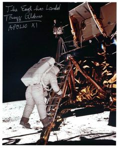 'The Eagle has Landed' signed Apollo 11 Lunar Lander photo Apollo 11, Nasa Store, Revelation 17, Lunar Lander, Babylon The Great, Solar System Planets, Apollo Missions, Buzz Aldrin, Robot Concept Art