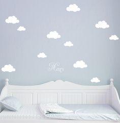 Wandtattoo Wolken Wolke Wölkchen mit Namen M1682 von deinewandkunst auf DaWanda.com