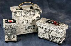 Handmade mini box projects | Club Scrap #valentine #love