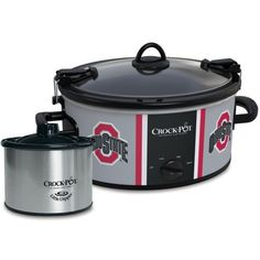 Crockpot  Ohio State University Slow Cooker With Lil Dipper (410 SEK) ❤ liked on Polyvore featuring home, kitchen & dining, small appliances, black, crock pot crock pot and crock pot slow cooker