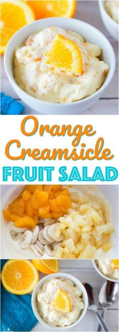 Orange Creamsicle Fruit Salad recipe from The Country Cook