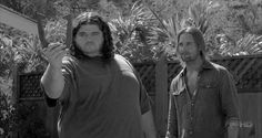 "Remember.. ""I think you got some ARZT on you"". LOL Classic Hurley!  Lost,  Hurley and Sawyer"