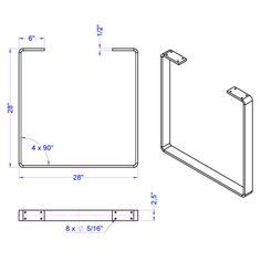 Industriel place Table en métal jambes à vendre par symétrie matériel--- 30 $ dexpédition aux États-Unis abaisser 48 ATTENTION : Les