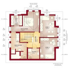 The motto of this house is: Feel good on 162 square meters. The well thought out … - Architectural Styles Modern Architecture Design, Modern House Design, Living Haus, Duplex Plans, House Construction Plan, Sims House, New House Plans, Interior And Exterior, New Homes