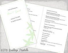 "Catholic Wedding program template Beach program ""Starfish"" DIY printable Tea…"