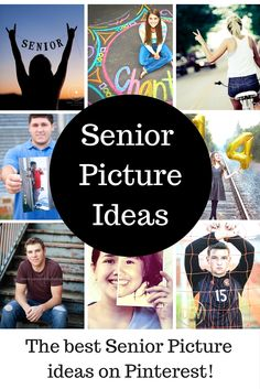 SENIOR PICTURE IDEAS!! These are great ideas for senior photographs