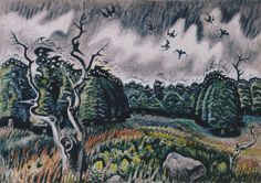 Charles Burchfield, 'Nighthawks at Twilight'