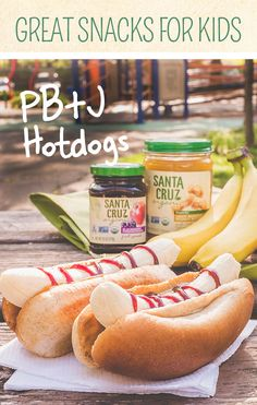 Have some extra hot dog buns in the pantry? You don't need to host a cookout to put them to use. Simply peel a couple bananas and drizzle some Santa Cruz Organic® Blackberry Pomegranate Fruit Spread and Santa Cruz Organic® Light Roasted Peanut Butter for a hot dog unlike any your kids have tasted.