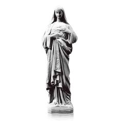 The Sacred Heart of Mary Prayer Marble Statues are made from bonded marble (marble powder and resin mix). The marble statue is made in Italy by some of the best marble experts in the world. The statues can make beautiful memorials for cemeteries, homes and gardens. Some of our statues are displayed at Churches, Public Buildings, Government Buildings and even private ranches.