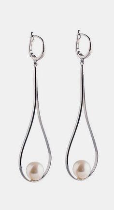 Gold Drop Earrings Bridal Pearl Drop