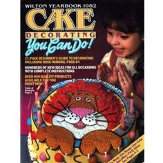 1982 Wilton Yearbook of Cake Decorating.  I have this book.  It's interesting to see how cake decorating trends have changed.  Piping dominates the techniques used.  I don't think fondant was used much back then.