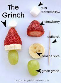 Nourishing Minimalism: Grinch Kabobs