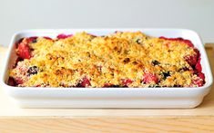 This fail-safe crumble recipe can be adapted with whatever fruit is in season: rhubarb and ginger in winter or blackberry and pear in warmer months