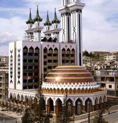 Syria Al Rahman Mosque Aleppo Siria. Mosque Architecture, Religious Architecture, Beautiful Architecture, Beautiful Buildings, Art And Architecture, Islamic World, Islamic Art, Islamic Store, East Sussex