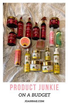 How to be a Natural Hair Product Junkie on a Budget - Joanna E