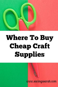 On the hunt for cheap craft supplies? Check out these 5 Great Places to Find Cheap Craft Supplies. Rustic Crafts, Wood Crafts, Easy Crafts, Paper Crafts, Crafts Cheap, Bulk Craft Supplies, Arts And Crafts Supplies, Art Supplies, Cheap Art
