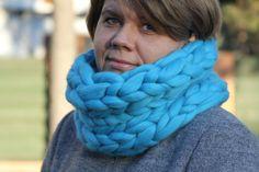 Super Chunky infinity scarf knitted scarf by NataHomeandFashion