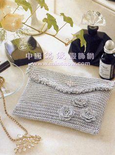 charted - Patrones Crochet: Bolso de Mano Sobre Crochet