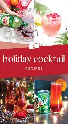 Whether it's a fruit-filled drink or a boozy beverage you're looking for, this collection of 6 Holiday Cocktail Recipes is sure to wow your party guests with flavor & presentation. Each made with bubbly ingredients like Canada Dry® Ginger Ale, & Squ Winter Cocktails, Christmas Cocktails, Holiday Cocktails, Summer Drinks, Ginger Ale, Bar Drinks, Alcoholic Drinks, Beverages, Aguas Frescas