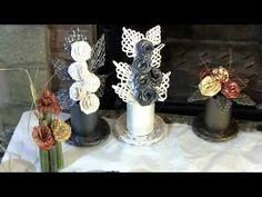 getlinkyoutube.com-Flores  de  papel, hechas  con sus  propias  manos.  Composicion para un regalo. Parte 2.